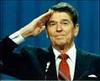 Ronald Reagan saluting