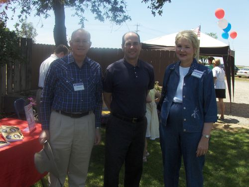 with Republican activists in Sacramento, California