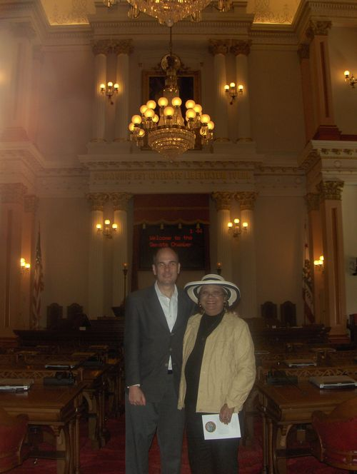 with Judy Tafoya, California Republican activist, in the California capitol