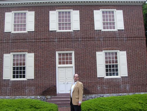 at the building in York, Pennsylvania where the Continental Congress met during the Revolution