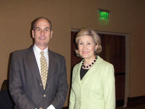 with Senator Kay Bailey Hutchison (R-TX)