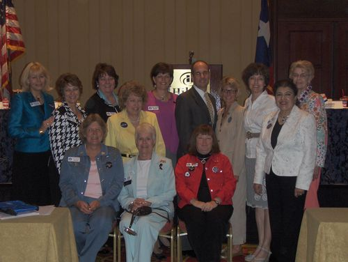with the board of the Texas Federation of Republican Women