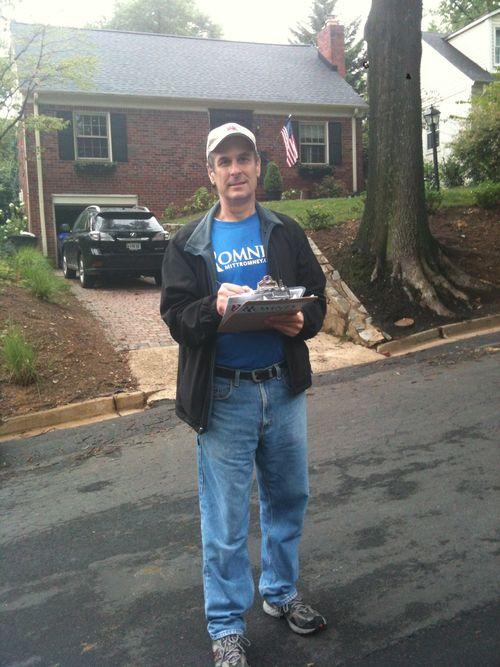 campaigning for Mitt Romney in Arlington, Virginia