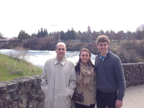 the Spokane River falls